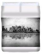 New York Skyline Reflected Duvet Cover