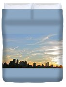 New York Sunset 2 Duvet Cover