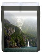 New Zealand's Milford Sound Duvet Cover