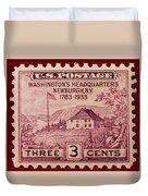 Newburgh Ny Postage Stamp Duvet Cover