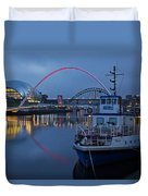 Newcastle Quayside At Night Duvet Cover