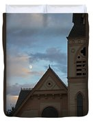 Newman United Methodist And Moon Duvet Cover