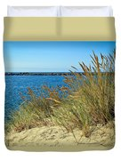 Newport Bay In Oregon Duvet Cover