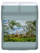 Newport Beach Temple Pine Duvet Cover