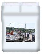 Newport Vermont Marina Duvet Cover
