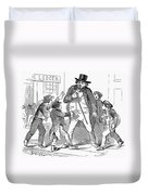 Newsboys, 1854 Duvet Cover