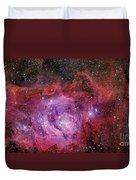 Ngc 6523, The Lagoon Nebula Duvet Cover