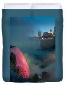Niagara At Night Duvet Cover
