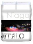 Niagara Falls Postcard Duvet Cover