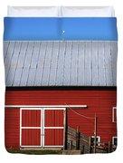 Nice Red Barn Duvet Cover