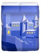 Night Castle Duvet Cover