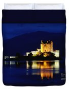 Night Falls On Eilean Donan Castle - D002114 Duvet Cover
