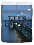 Night Fishing Duvet Cover