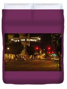 Night Scene At 6th And G Duvet Cover