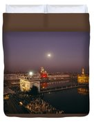 Night View Of Amritsar Duvet Cover