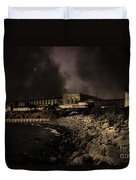 Nightfall Over Hard Time - San Quentin California State Prison - 5d18454 - Partial Sepia Duvet Cover
