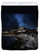 Nightfall Over Hard Time - San Quentin California State Prison - 5d18454 Duvet Cover