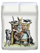 Norse God Odin (woden) Duvet Cover