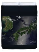 North And South Korea, And The Japanese Duvet Cover
