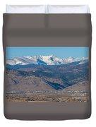 North Boulder Colorado Front Range View Duvet Cover