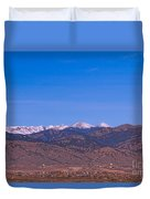 North Boulder County Colorado Full Moon View Duvet Cover