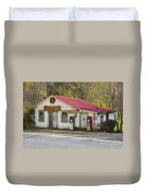 North Carolina Country Store And Gas Station Duvet Cover