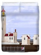 North Head Lighthouse Original Structures Duvet Cover