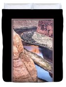 North Side Of Horseshoe Bend Duvet Cover