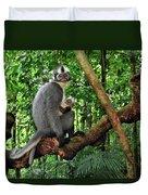 North Sumatran Leaf Monkey Presbytis Duvet Cover