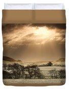North Yorkshire, England Sun Shining Duvet Cover by John Short
