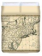 Northeast Coast Of America Duvet Cover