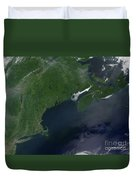 Northeast United States And Canada Duvet Cover