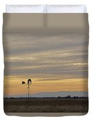 Northern California Windmill Duvet Cover
