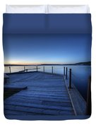 Northern Lake Evening Duvet Cover