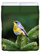 Northern Parula Parula Americana Male Duvet Cover