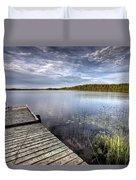 Northern Saskatchewan Lake Duvet Cover