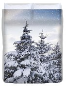 Northumberland, England Snow-covered Duvet Cover