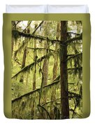 Northwest Mossy Tree Duvet Cover