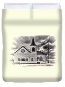 Norwegian Church Cardiff Bay Cream Duvet Cover