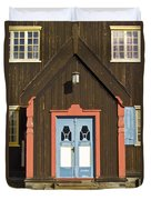 Norwegian Wooden Facade Duvet Cover