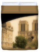 Notre Dame Cathedral Viewed Duvet Cover