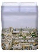 Notre Dame In Paris Duvet Cover