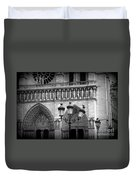 Notre Dame With Luminaires Duvet Cover