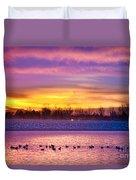 November Lagerman Reservoir Sunrise  Duvet Cover by James BO  Insogna