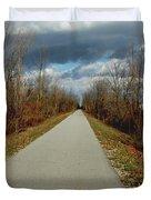 November On Macomb Orchard Trail Duvet Cover