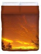 November Sunrise Duvet Cover