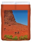 Nubian Camel Rider Duvet Cover by Tony Beck