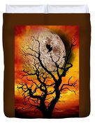 Nuclear Moonrise Duvet Cover