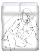 Nude-male-drawings-13 Duvet Cover