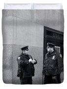 Ny Beat Cops Holding The Banana Republic Duvet Cover